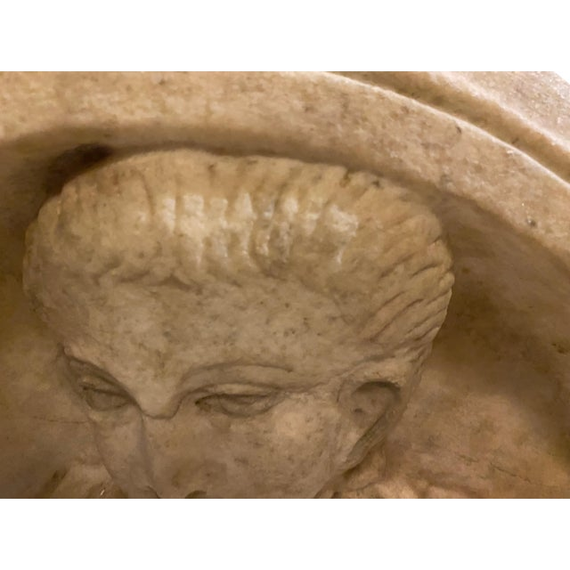 Stone Ancient Roman Carved Marble Roundel For Sale - Image 7 of 11