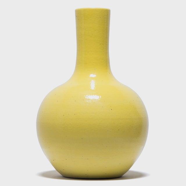Asian Citron Gooseneck Vase For Sale - Image 3 of 7