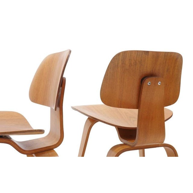 1940s Set of Four Vintage Eames DCWS Add Our Red Eames Dining Chairs to Make Six For Sale - Image 5 of 10