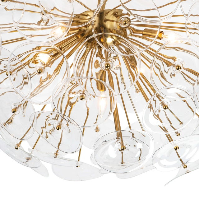 Poppy Glass Semi Flush Mount in Clear For Sale - Image 4 of 6