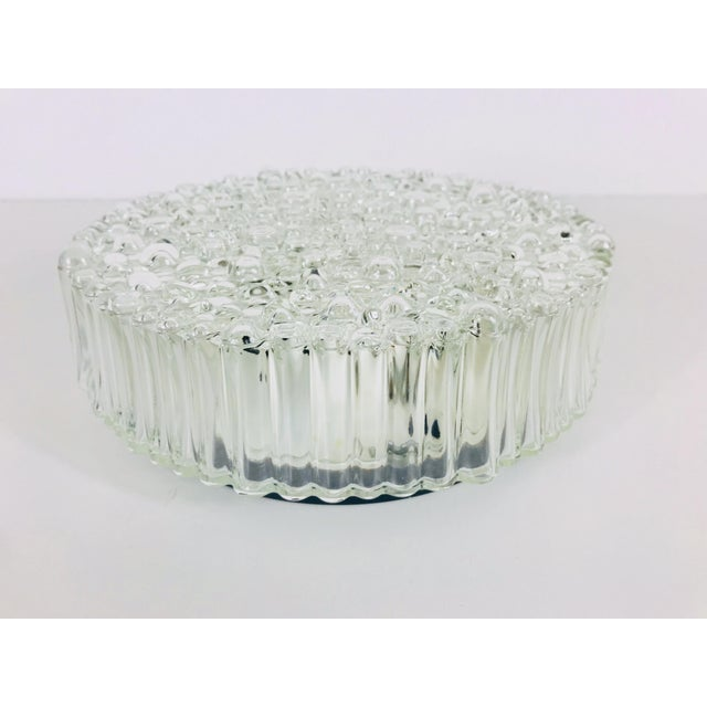 1960s 1960s Mid-Century Modern Bubble Glass Flush Mount by Glashütte Limburg, Germany For Sale - Image 5 of 10