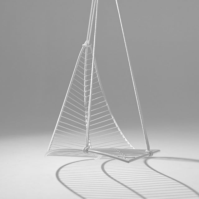 Studio Stirling Leaf Hanging Swing Chair - White For Sale - Image 4 of 7