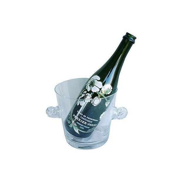 Tiffany Co. Glass Champagne Wine Chiller Bucket - Image 4 of 7