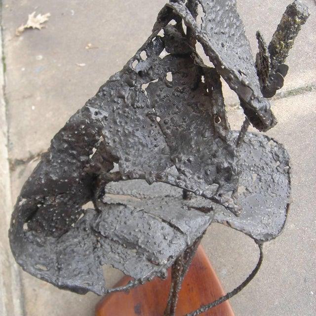 Brutalist 4ft Vintage Brutalist Cat Tail Sculpture For Sale - Image 3 of 5