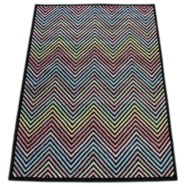 Flawless Multi Color Chevron Rug -- 8'x 11' - Image 2 of 3