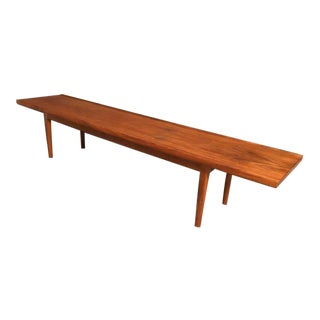 Mid-Century Vintage Drexel Co. Long and Narrow Teak Coffee Table For Sale