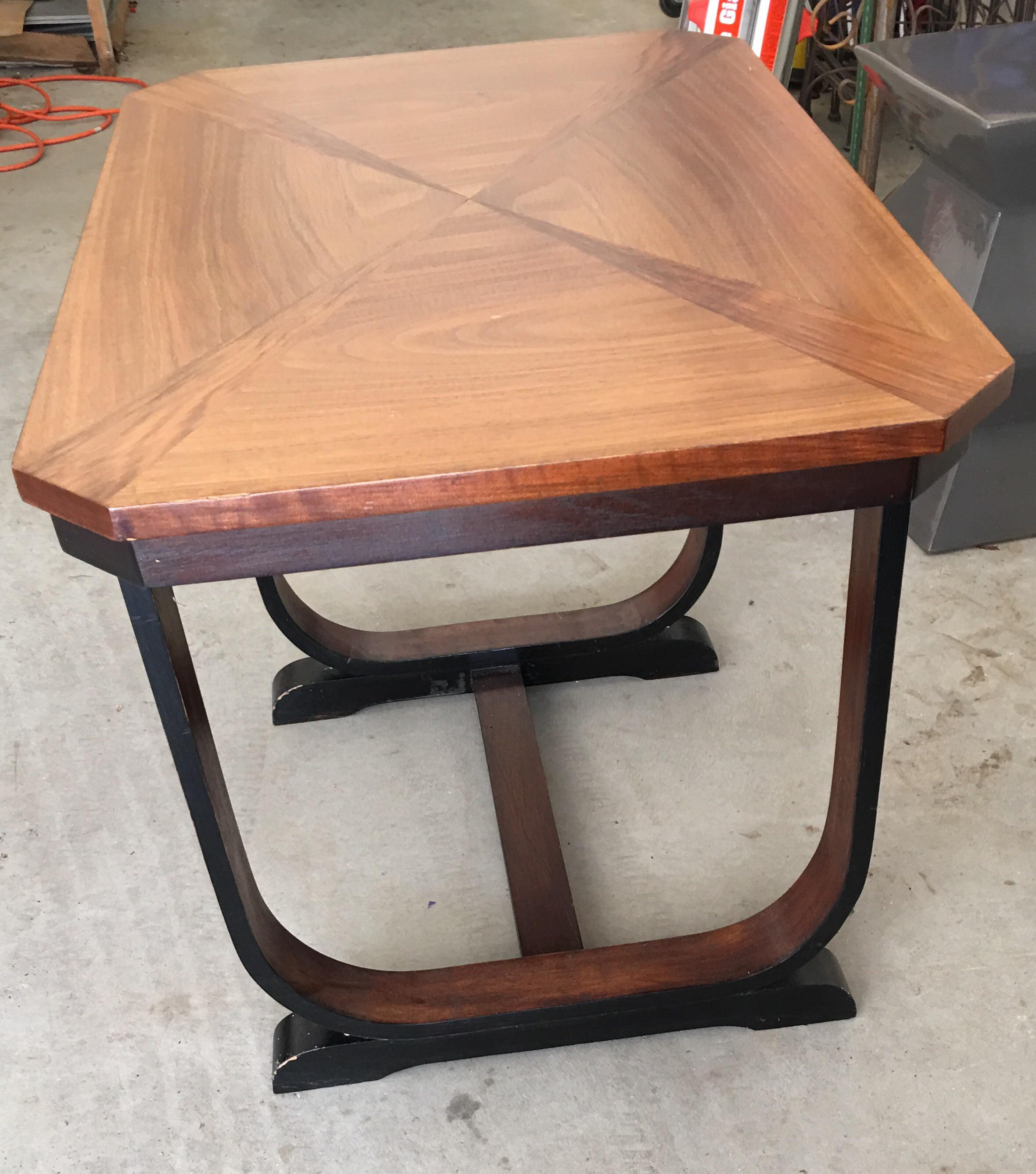 Art Deco Art Deco Wood End Table / Side Table For Sale   Image 3 Of