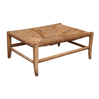 Walnut Rush Seat Bench For Sale