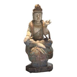 Camphor Wood Quan Yin Sculpture For Sale