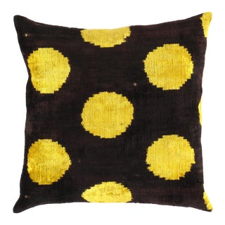 Turkish Hand Woven Ikat Pillow 20'' #Ti 296 For Sale