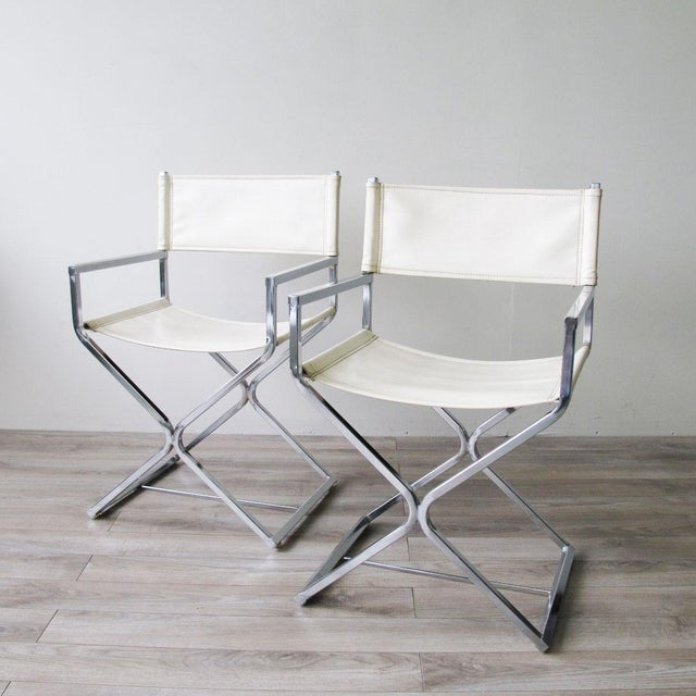 Chrome Director's Chairs - A Pair - Image 3 of 7