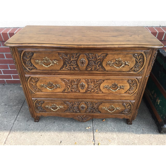 French Baker Furniture Company French Style Chest Dresser For Sale - Image 3 of 8
