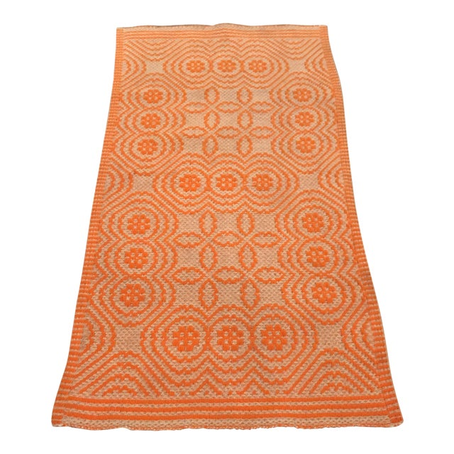 Orange Italian Artisan Rug - 2′3″ × 4′6″ - Image 1 of 4