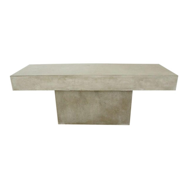 CB Concrete Resin Fuze Bench Chairish - Cb2 cement table
