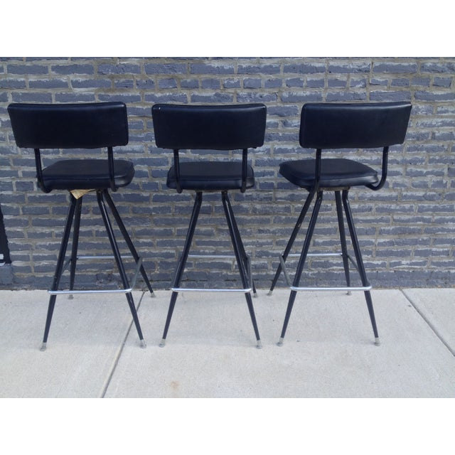 Mid-Century Modern Bar with Set of 3 Bar Stools - Image 11 of 11