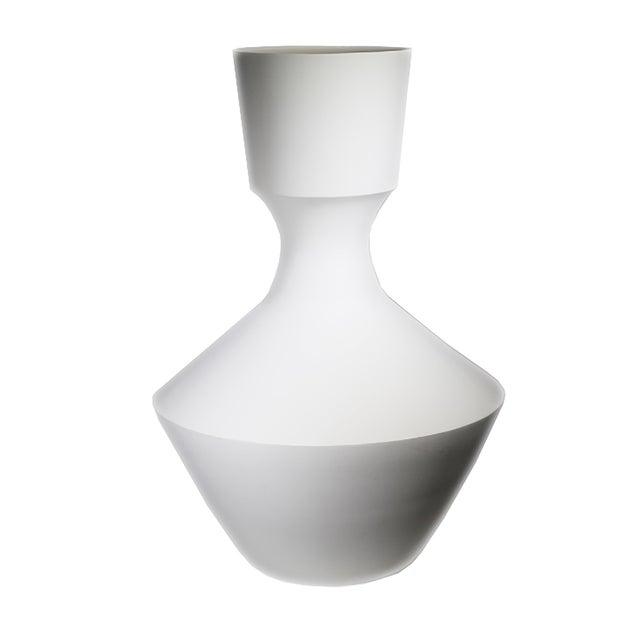 Monumental White Bisque Porcelain Vase - Image 1 of 7
