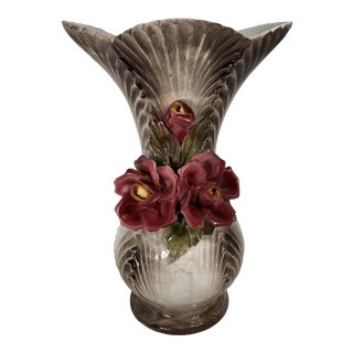 1940s Vintage Italian Traditional Victorian Capodimonte Vase/Urn/ Flower Holder Art Piece For Sale