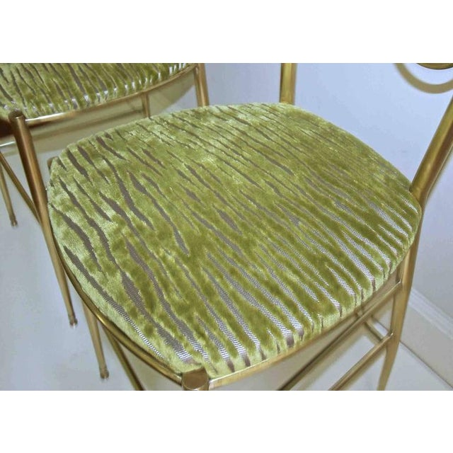 1950s Italian all Back Brass Chiavari Side Chairs - a Pair For Sale In Palm Springs - Image 6 of 11