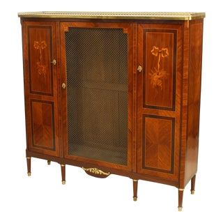 French Louis XVI Style High Cabinet For Sale