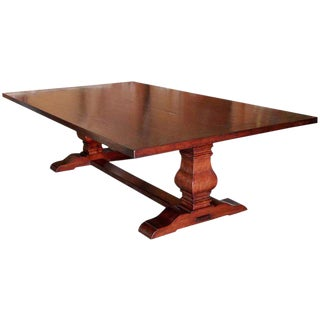 Dining Table in Cherrywood, Custom Made by Petersen Antiques For Sale