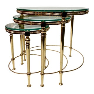 Maison Bagues Attributed Nesting Tables - Set of 3 For Sale