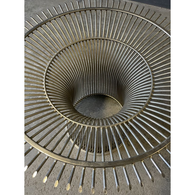 Chrome and Marble Round Table Designed by Warren Platner for Knoll. For Sale - Image 12 of 13