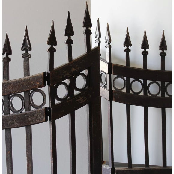 """Pair of Wood Stable Gates. Circa Mid 19th Century. Each Height: 54"""" Width: 39"""" Depth: 2"""""""