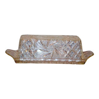 Lucite Starburst Butter Dish For Sale