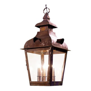 Customizable Hand-Made American Over-Scaled Brass Lantern For Sale