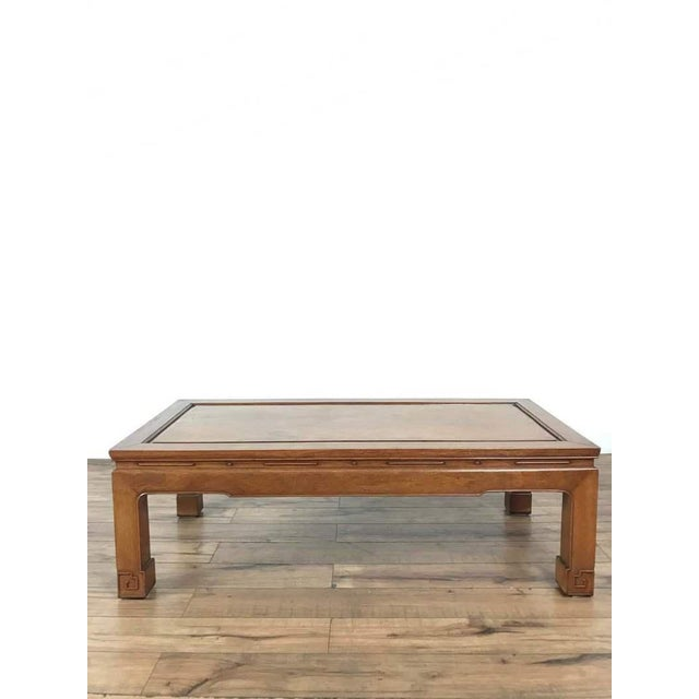 Teak George Zee Chinese Style Wood Coffee Table For Sale - Image 7 of 7