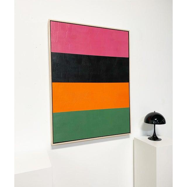 "Exclusive John O'Hara ""Line Dance 1"" Encaustic Painting For Sale In Saint Louis - Image 6 of 8"