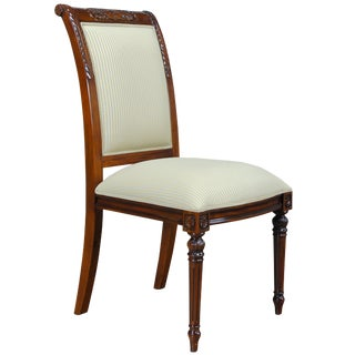 Niagara Furniture Carved Empire Upholstered Side Chair For Sale