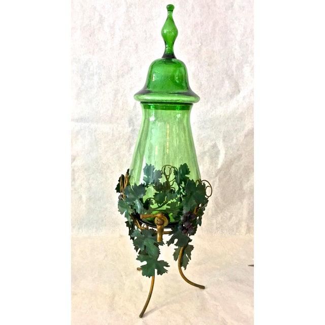 1980s Vintage Decorative Wine Decanter Dispenser For Sale In Tampa - Image 6 of 6