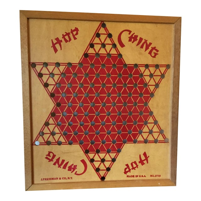 Vintage Wooden Chinese Checkers Board - Image 1 of 11