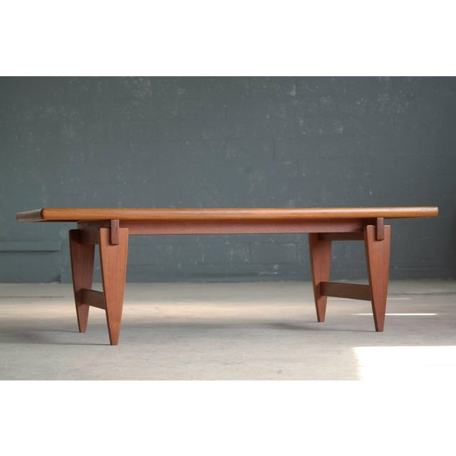 Mid-Century Modern Danish Midcentury Coffee Table in Solid Teak by Illum Wikkelsø For Sale - Image 3 of 6