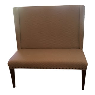 Beige Upholstered Banquette Settee