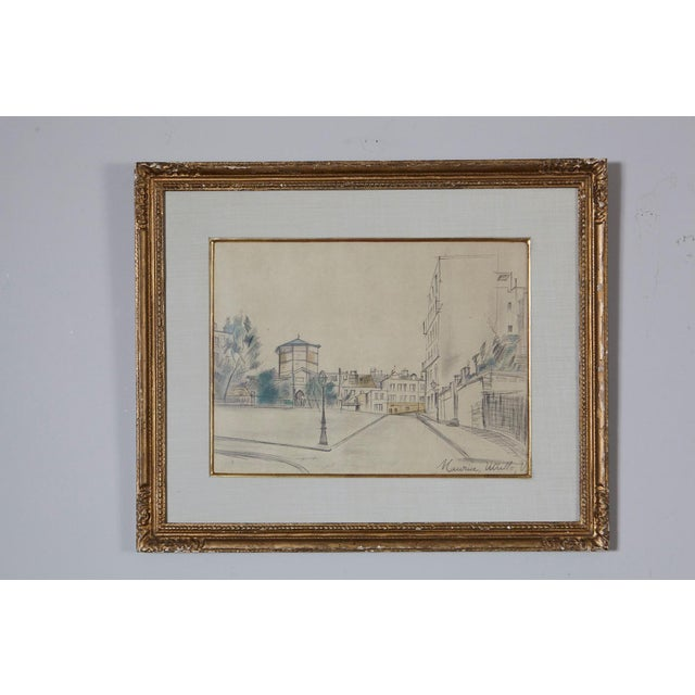 Maurice Utrillo (born as Maurice Valadon) French, 1883 - 1955 La Place Ravignan, 1920 Original drawing in graphite and...