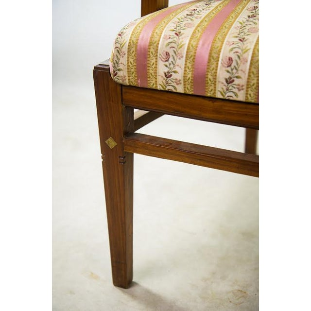 Art Nouveau Settee Sofa in the Style of Iberto Issel For Sale - Image 4 of 11