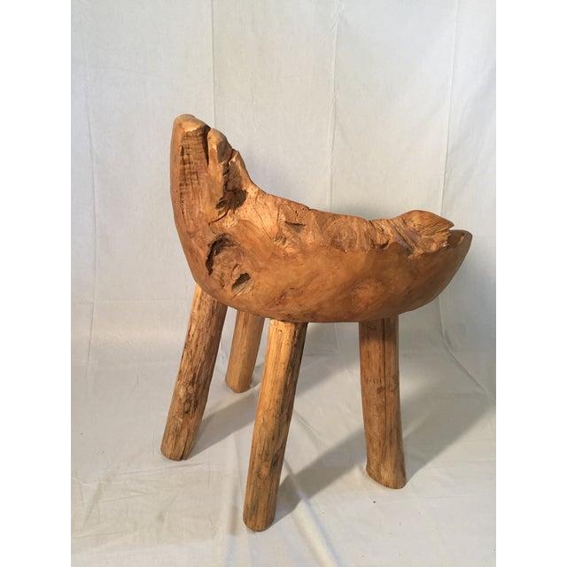 Organic Teak Wood Chair - Image 2 of 2