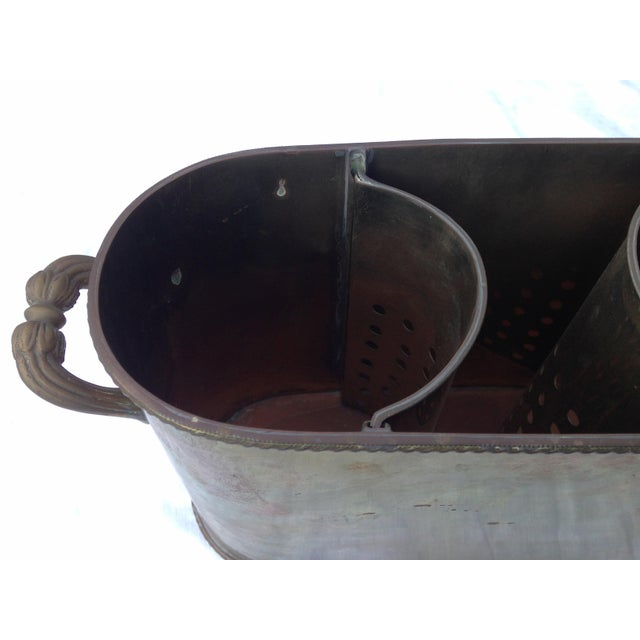 Brass Dual Wine Chiller For Sale - Image 4 of 5