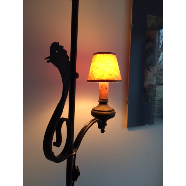 Brass Early 19th Century Wrought Iron and Brass Oil Lamp For Sale - Image 7 of 12