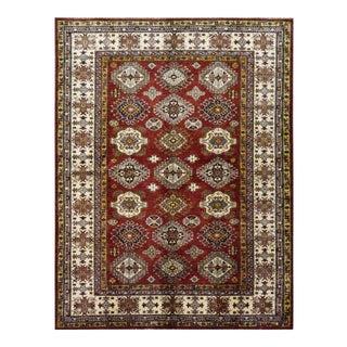 Afghan Kazak Wool Rug - 5′10″ × 7′6″ For Sale