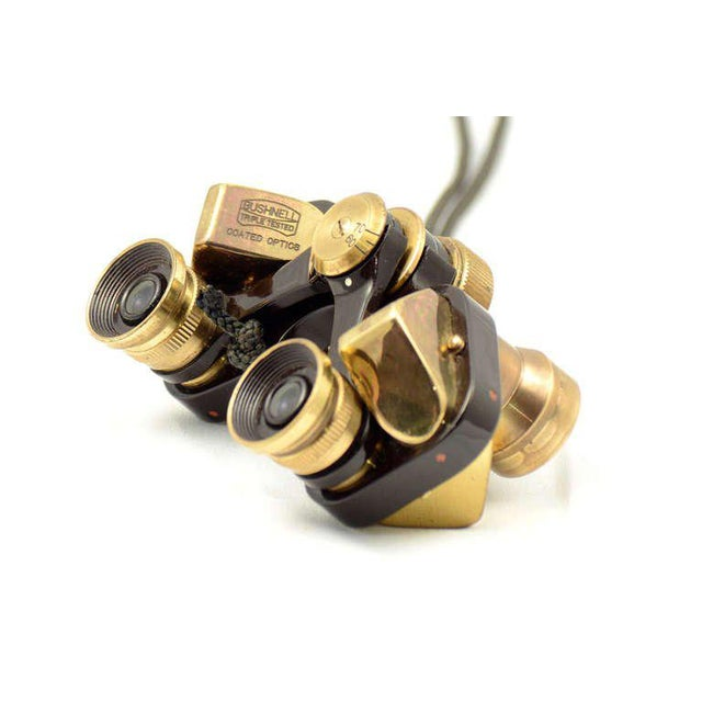 Traditional Bushnell Brass Opera Binoculars With Leather For Sale - Image 3 of 9