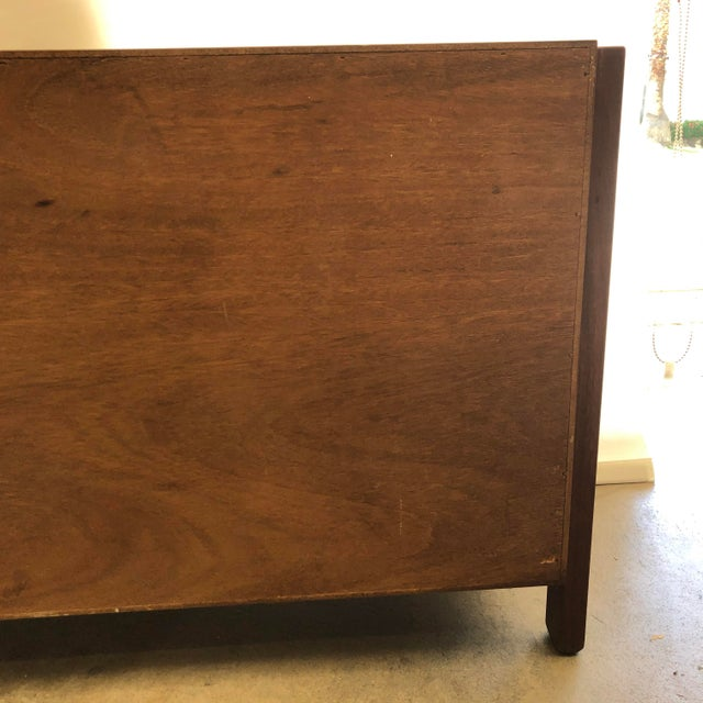 Mid-Century Modern Solid Wood Credenzas - A Pair For Sale In Los Angeles - Image 6 of 13