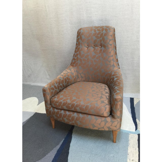 Mid-Century Modern Silk Leaf Upholstered Chair For Sale - Image 12 of 12
