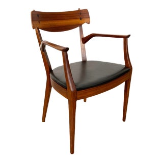 1960s Mid-Century Modern Kipp Stewart Walnut Armchair for Drexel For Sale