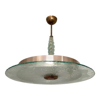 Swedish 1940s Moderne Glass Pendant For Sale