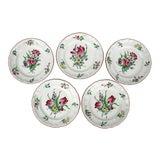 Image of French Luneville Old Strasbourg Pattern Dessert / Salad Plates - Set of 5 For Sale