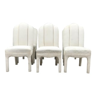 1990s Vintage Tufted Parsons Chairs- Set of 6 For Sale