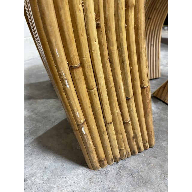 Crespi-Style Pencil Reed Bamboo Waterfall End Tables - a Pair For Sale In Richmond - Image 6 of 10